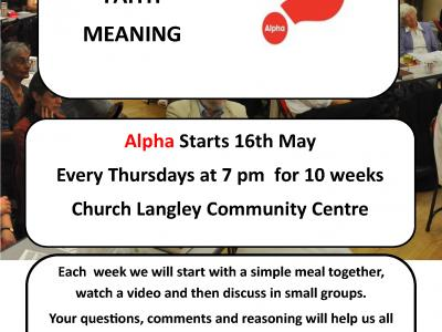 Church Langley Alpha Course 2019