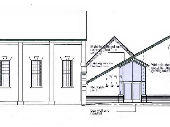 Hall Development - Side Elevation
