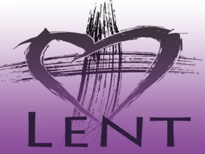 lent cross and heart