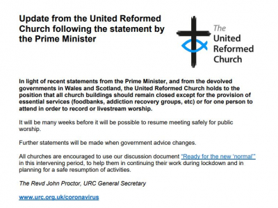 URC Statement - 11 May 2020